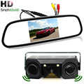 HD 5 inch Rearview Mirror Car Monitor HD 800x480 TFT Screen With Rear View Camera and 2 Parking Sensors