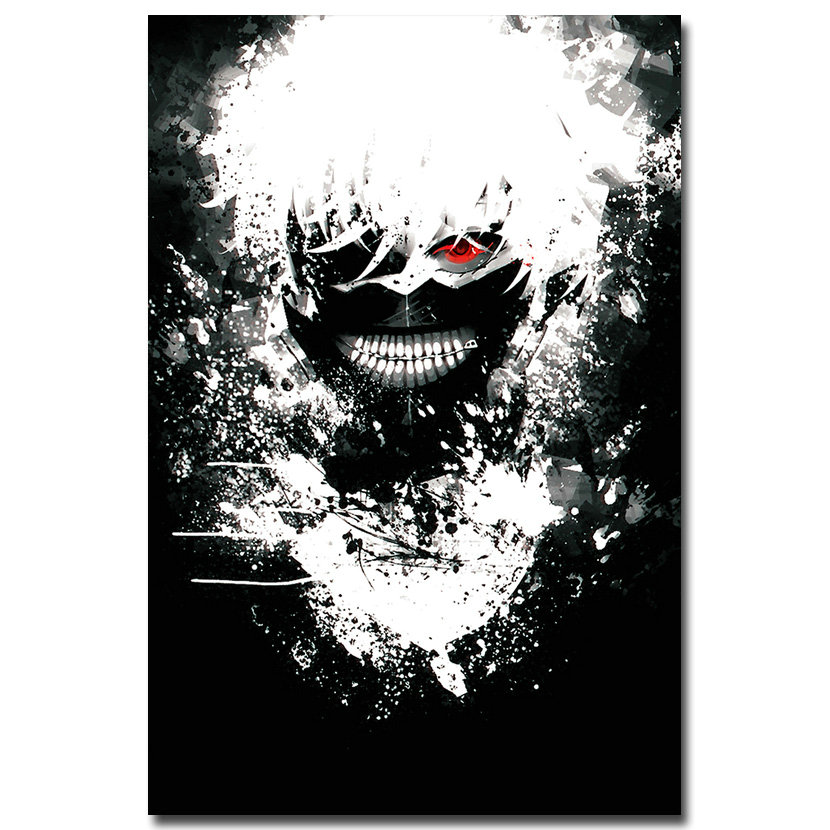 Hot Japan Anime Cosplay Tokyo Ghoul Art Canvas Poster 8x12 24x36 inch