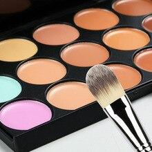 15 Color Concealer Neutral Palette + Brush Makeup Cosmetic Set