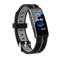 Fitness tracker woman sport smart watch F10C heart rate blood pressure IP68 waterproof swim watches for Android IOS PK mi band3
