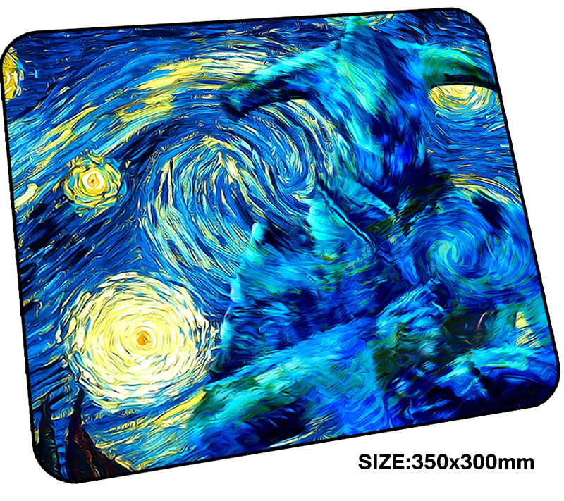 van gogh mousepad gamer 350x300x3mm gaming mouse pad High quality notebook pc accessories laptop padmouse HD print ergonomic mat