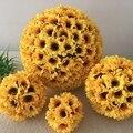 Exellent sunflower hochzeit küssen ball 35 cm Durchmesser hängen Blume Kissing Bälle für Hochzeit Dekoration 10 stücke