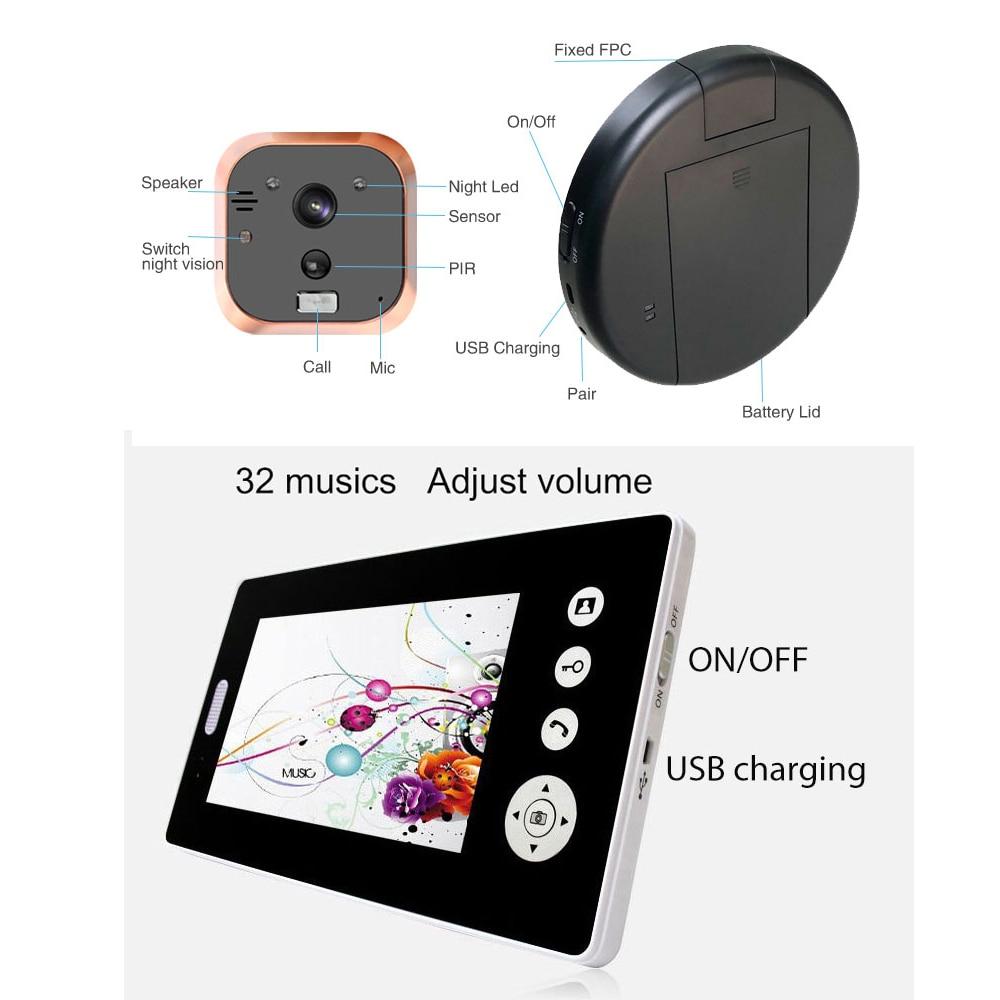 Home Security 2.4G Wireless Video Door Phone Intercom Doorbell Camera with 7 Monitor Access ControlHome Security 2.4G Wireless Video Door Phone Intercom Doorbell Camera with 7 Monitor Access Control