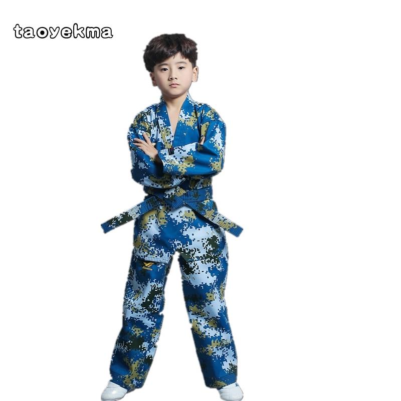 Camouflage Enfants Adultes Taekwondo Usure À Manches Longues pour Hommes et Femmes de Taekwondo Vêtements de Formation vêtements T31