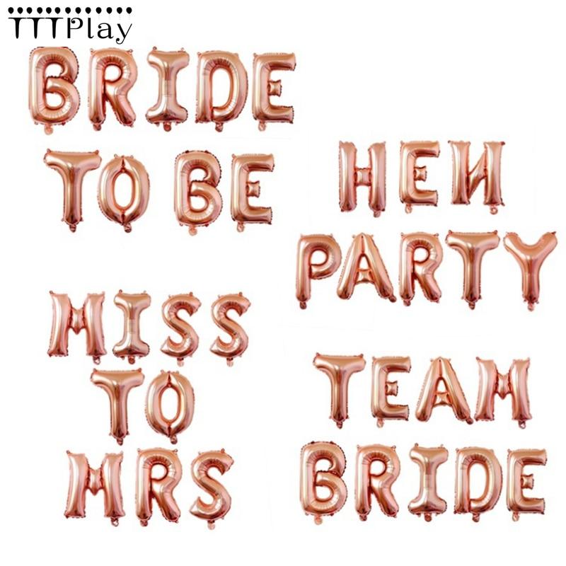 16 Inch Rose Gouden Alfabet Letters Folie Ballonnen Baby Shower Verjaardagsfeestje Decoratie Aluminium Ballonnen Wedding Party Supplies