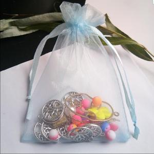 Image 2 - Hot Koop 1000 stks 5 cm x 7 cm koord pouch Wedding Christmas party Gift Bag organza trekkoorden sieraden Verpakking zak Garen zakken