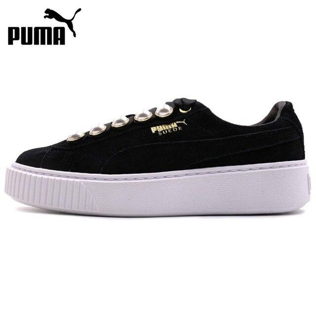 d3afe3ee2233 Original New Arrival 2018 PUMA Suede Platform Bling Women s Skateboarding  Shoes Sneakers