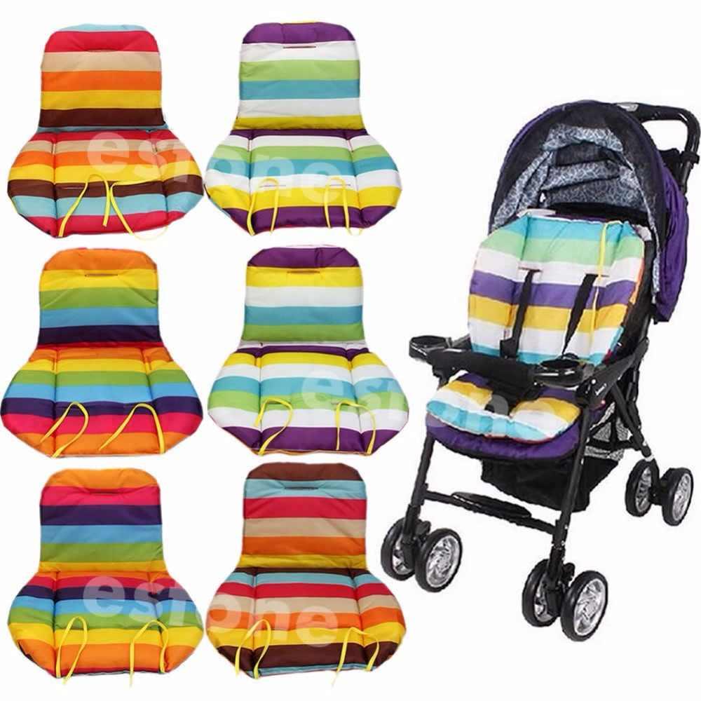 Cochecito de bebé impermeable cojín bebé acolchado forro/asiento de coche almohadilla de arco iris