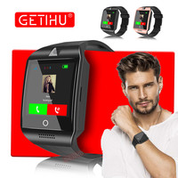 GETIHU Smart Watch Q18 Smartwatch Bluetooth Digital Wrist Sport Watch SIM Card Phone With Men Camera
