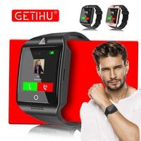 GETIHU Smart Watch Q18 Smartwatch Bluetooth Digital Wrist Sport Watch SIM Card Phone With Men Camera