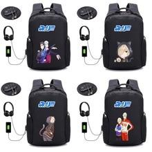 anime YURI!!! on ICE backpack Anti-theft Backpack USB Charging backpack Laptop Travel Bag Schoolbag Waterproof Backpack 20 style цены