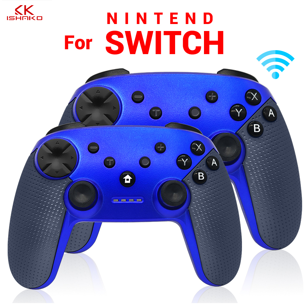 K ISHAKO 1 Pc/2 Pcs Wireless Gamepad Bluetooth Vibration Joystick Pro Controller for Nintend Switch ConsoleK ISHAKO 1 Pc/2 Pcs Wireless Gamepad Bluetooth Vibration Joystick Pro Controller for Nintend Switch Console