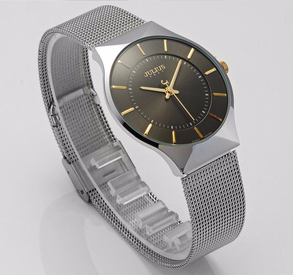 Julius Men Watch Stainless Steel Band Analog Display Quartz Wristwatch (19)