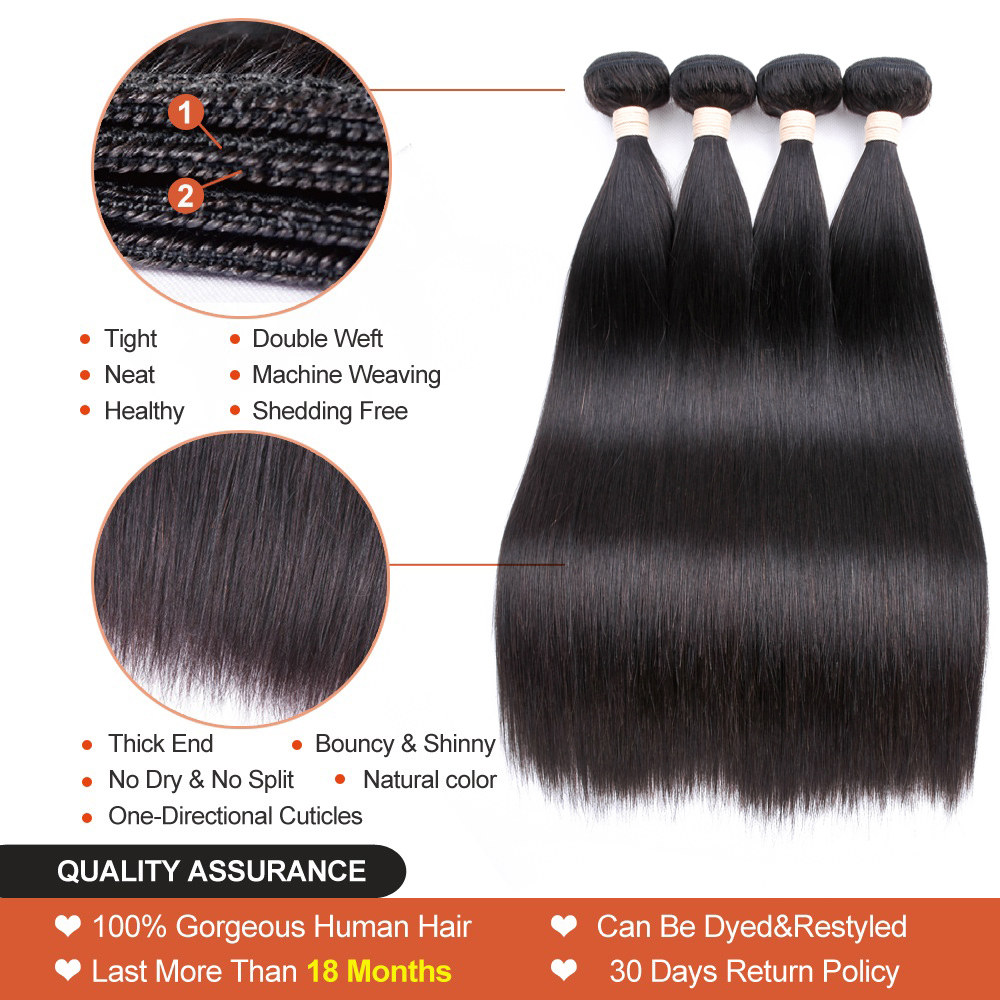 Beaudiva Peruvian Hair Bundles Straight Hair 3Pcs Lot Straight Hair - Skønhed forsyning - Foto 2