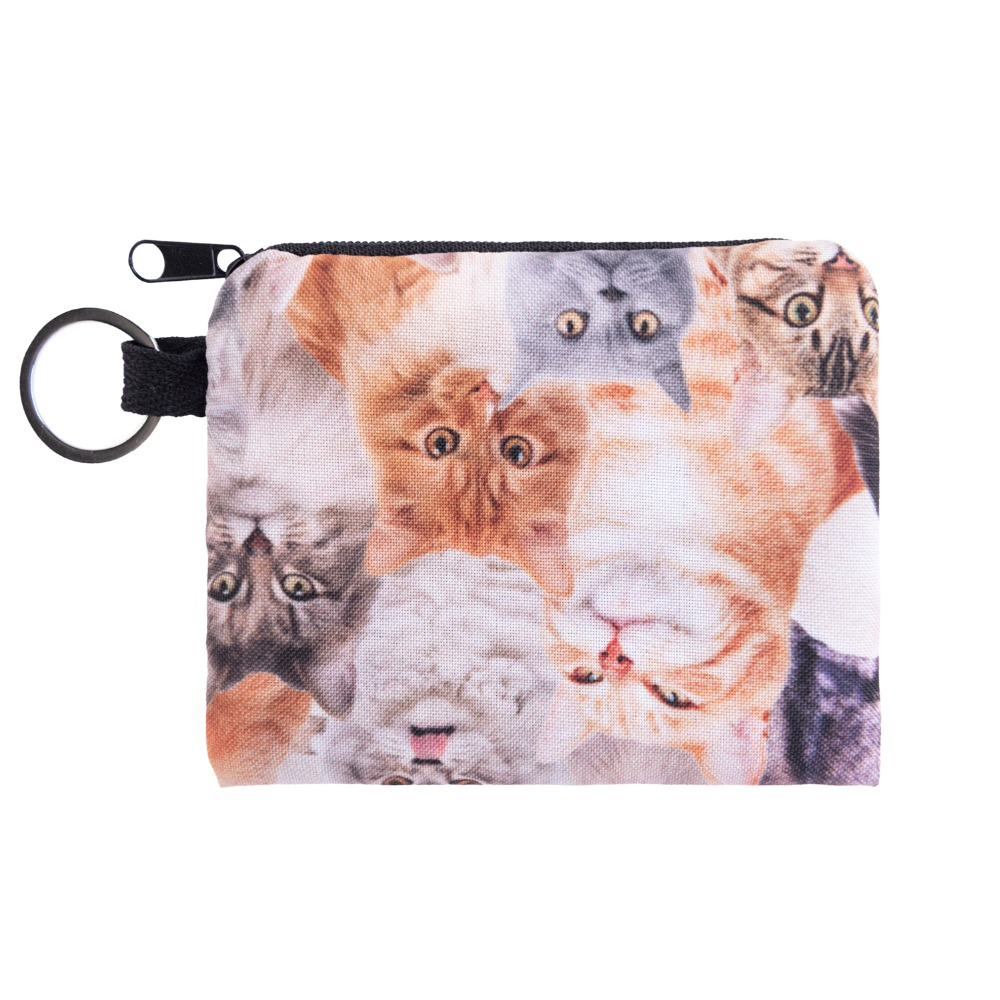 Galaxy Cat Mini Square Coin Purse Brand Wallet Animal Print Women Purse Holder Cute Small Zipper Pouch Fashion Female Keys Bags 2014 promotion cat small wallet animal coin purse printing women creative pouch zipper mini bag