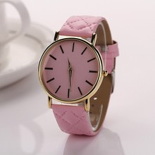 New Geneva Men Watch Women Casual Sports Clock Wristwatch Relogio Feminino Unisex Faux Leather Quartz-Watch Relojes As Gift  P20