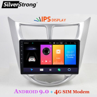 SilverStrong Android9.0 Car GPS for HYUNDAI Solaris Verna 9inch IPS 3G 4G Internet 2din GPS Navitel Map Navigation wifi