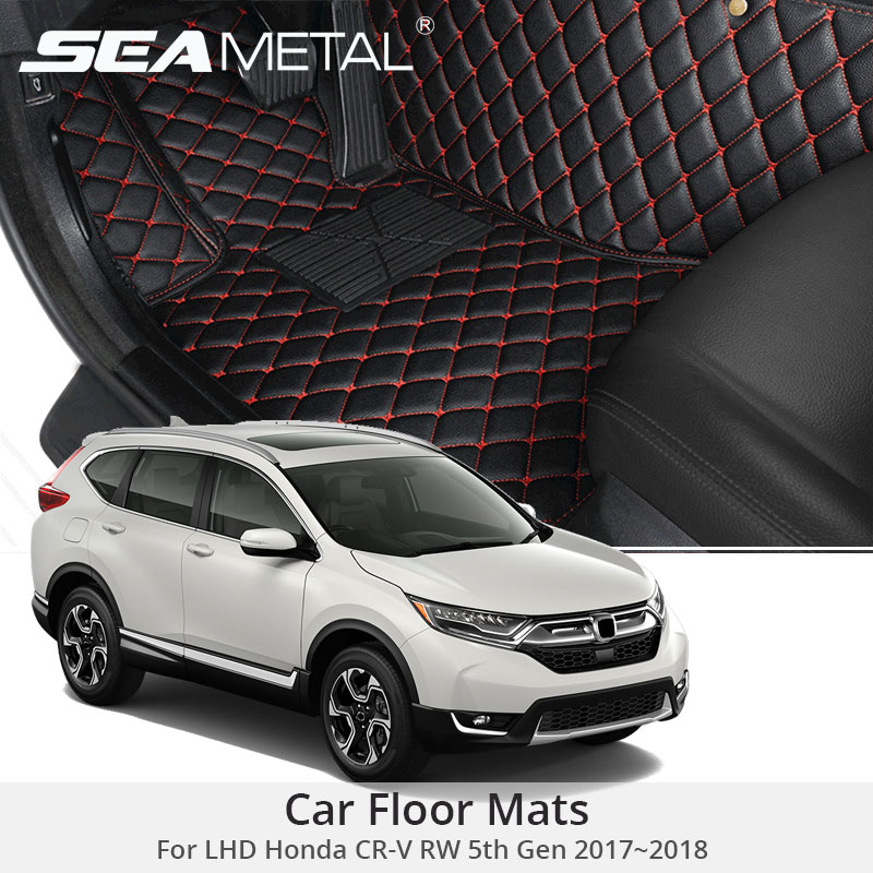For LHD Honda CR V RW 5th Gen 2018 2017 Car Floor Mats CRV Custom Carpets
