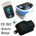 Big Promotion with Pouch Pulse Oximeter SPO2 Pulse Rate Monitor with Alarm Beep Function 4 Directions 6 Display Modes