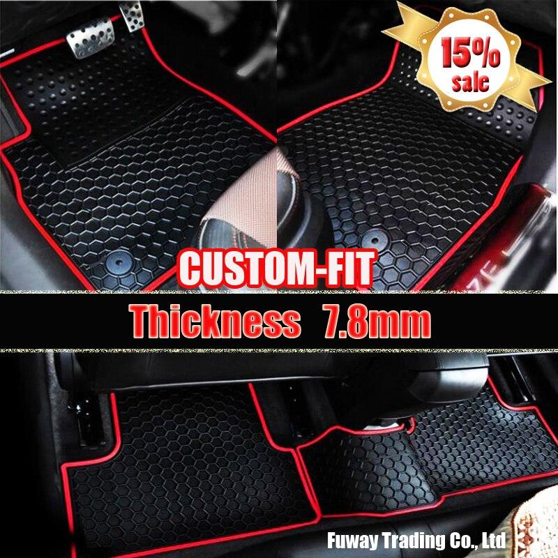 Car Logo Rubber Pat Material Floor Liner Kit For Ford Mondeo 13 17 Years 4 Door Car Foot Floor Pat