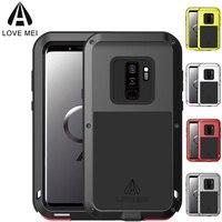 100 LOVE MEI Doom Armor Heavy Duty Case Metal Case Shockproof Cover For Samsung Galaxy S9