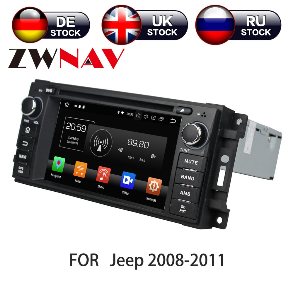 Android 8.0 Car DVD player GPS navigation radio Stereo for Jeep Grand Cherokee Compass Wrangler 2010 UNIT auto multimedia partymania шляпа карнавальная с дождиком t1231 цвет серебряная