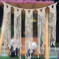 85x113cm Bohemian Wall Hanging Door Curtain Macrame Hand woven Rope Tapestry Wedding Decoration Tapestry Nordic Style