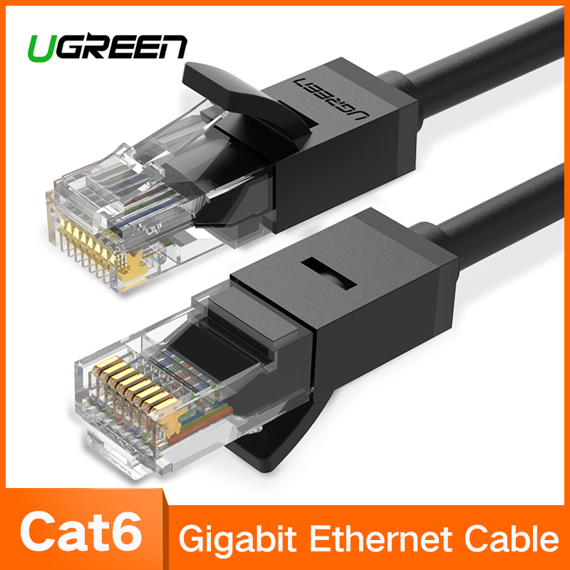 все цены на Ugreen Ethernet Cable Cat6 Lan Cable UTP CAT 6 RJ 45 Network Cable 10m/50m/100m Patch Cord for Laptop Router RJ45 Network Cable онлайн