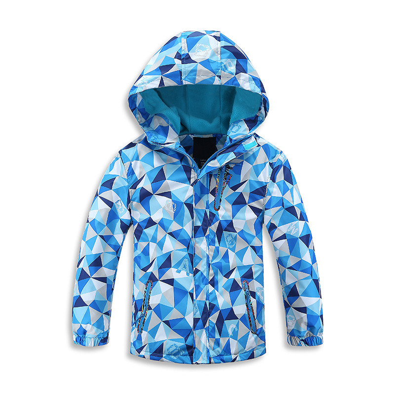 2017 Spring and Autumn Children Outerwear Sporty Kids Clothes Double-deck Waterproof Windproof Boys Jackets For 4-13T 3 Colors