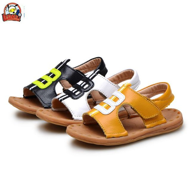 849e171d65289 Lesvago 2017 summer boys genuine leather breathable comfortable sandals  children baby boy sandals 1-3 years old kid boy shoes
