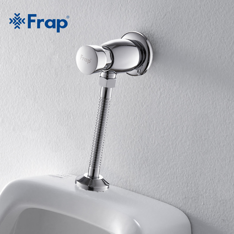 Frap Simple style Hand-pressing Type Brass Urinal Flush Valve delay urine flush valve F7201 3 4