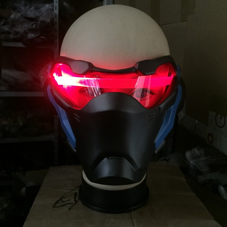 Soldier 76 Masks Luminous For Cosplay Soldier 76 Mask With Light Costume Without Battery