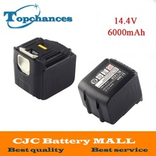 2X High Quality Newest 6000mAh 14.4V Li-ion Power Tool Battery for Makita Drills 194065-3 BL1415 BL1430 MET1821 LXPH02 Battery