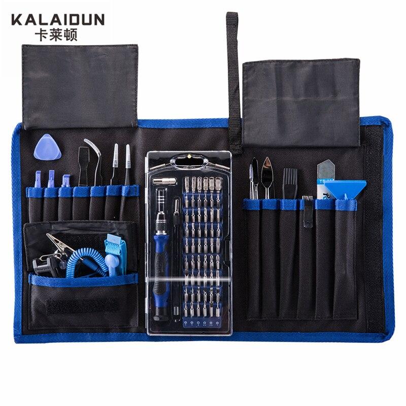 KALAIDUN 82 in 1 con 57 Bit Driver Kit Magnetico Cacciavite di precisione set Utensili A Mano per il Telefono Electronics Repair Tool Kit