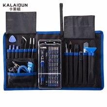 Kalaidun kit de chave de fenda magnética, kit com 57 bit chave de fenda de mão, ferramentas de reparo eletrônico kit de