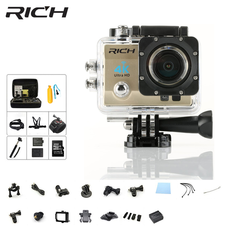 Caméras d'action riches 4 K Ultra HD 1080 P WiFi 2.0
