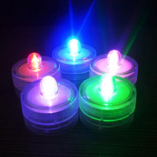 12Pcs Submersible Waterproof Wedding Tea Candle Lamp Battery Operated LED Lights