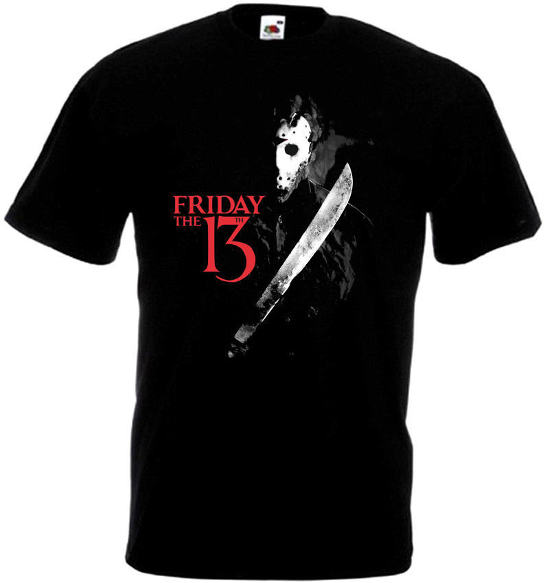Crazy T Shirts Mens Friday The 13 V17 T-Shirt All Sizes Sizes S To 3XL Black Printing Machine O-Neck Short-Sleeve T Shirts