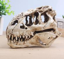 wholesale 15cm white resin skull split tyrannosaurus head mannequin, reference skull model, artistic bust,landscaping M01011 human skull model 1 1 skull model resin skull model art skull model