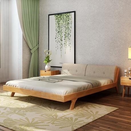 US $14879.99 7% OFF|Hause Bett Schlafzimmer Möbel Wohnmöbel Nordic einfache  moderne massivholz bett 1,5 mt/1,8 mt doppelbett mit matratze high end ...