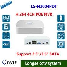 Envío gratis por dhl, Full HD 1080 P CCTV POE nvr, canales NVR para cámara IP ONVIF H.264 NVR