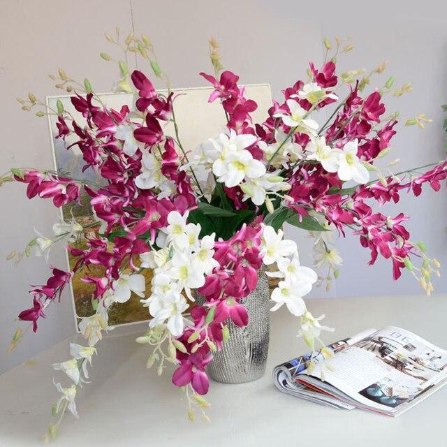 Cheap Artificial Flowers Artificial Orchid Branch Silk Flower For