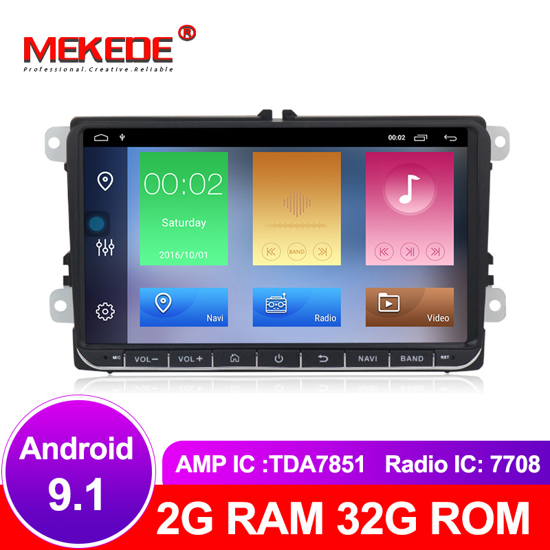9 Android 9 1 2 32G Car GPS Navigation for VW Volkswagen SKODA GOLF 5 Golf