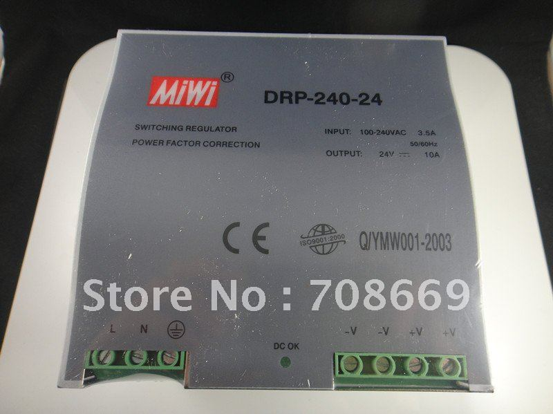Din Rail Mounted 24VDC 10A Output 240W Power Supply цена
