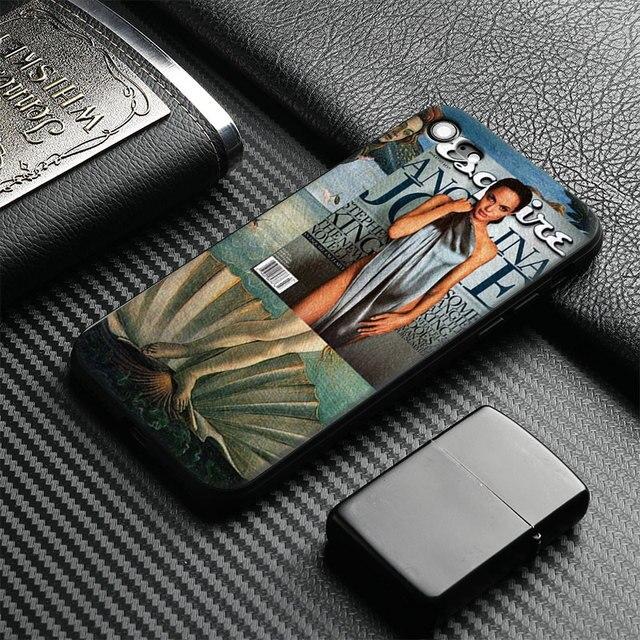 أنجلينا جولي اللوحة كليات متعة الفن tpu لينة سيليكون حالة الهاتف غطاء شل لتفاح iphone 5 5 ثانية se 6 6 ثانية 7 8 زائد × 10