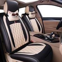 (Front + Rear) Leather&Flax car seat covers For kia optima k5 picanto rio 3 shuma sorento soul of 2018 2017 2016 2015