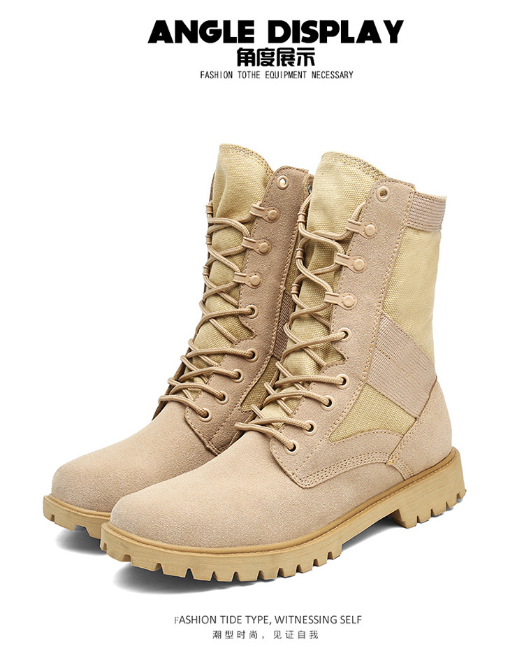 3bc3f06c2 PINSV Military Boots Men Tactical Boots High Top Army Boots Safety Shoes  Black Men Boots Botas Hombre Chaussure Homme Size 38-45