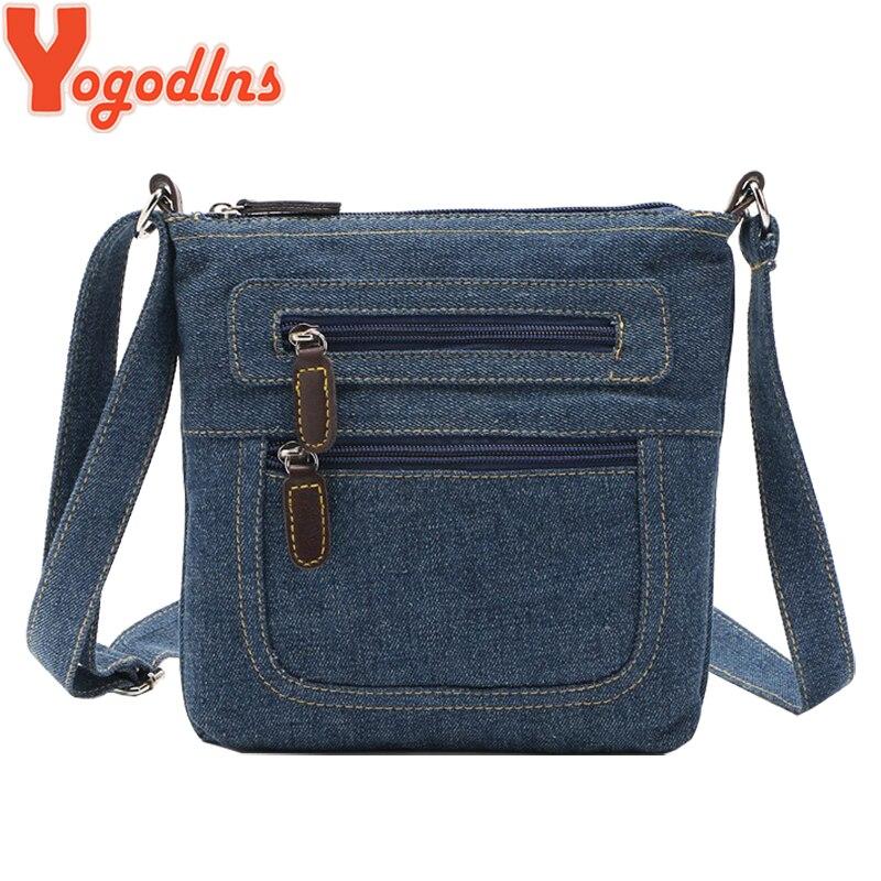 a2df3eb29a35 Yogodlns модные синие джинсовые сумки на плечо женская сумочка классическая  сумка ковбой Сумки ранцы дамы кроссбоди sling bag   Сумки на плечо с  Алиэкспресс ...
