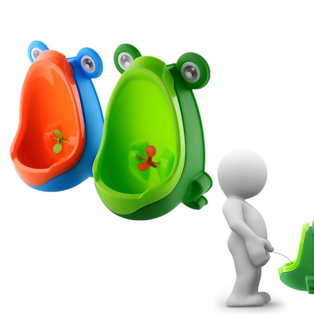 Frog Shaped Potty Toilet Kids Urinal Standing Trainer Bat Bathroom