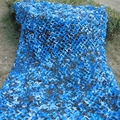 3.5M*4M filet Camo Netting blue camouflage netting for sunshade awning gazebo camping tent sun shading tent  sun shelter hiking
